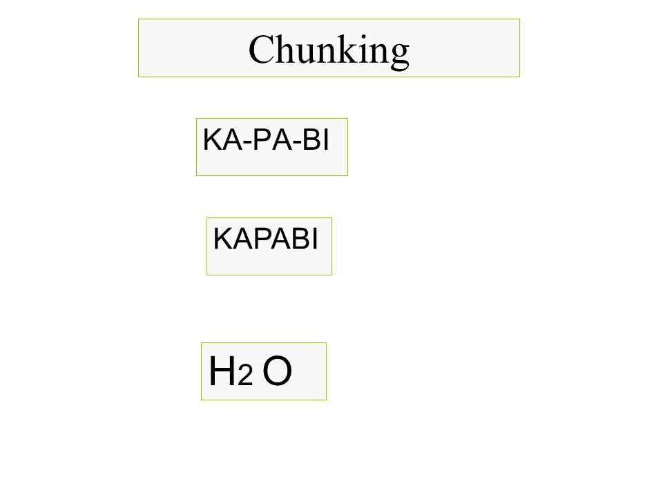 Chunking ΚΑ-ΡΑ-ΒΙ ΚΑΡΑΒΙ Η2 Ο