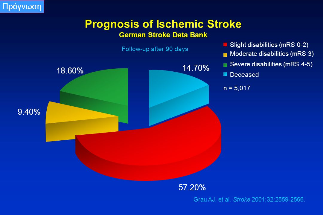 Prognosis of Ischemic Stroke German Stroke Data Bank