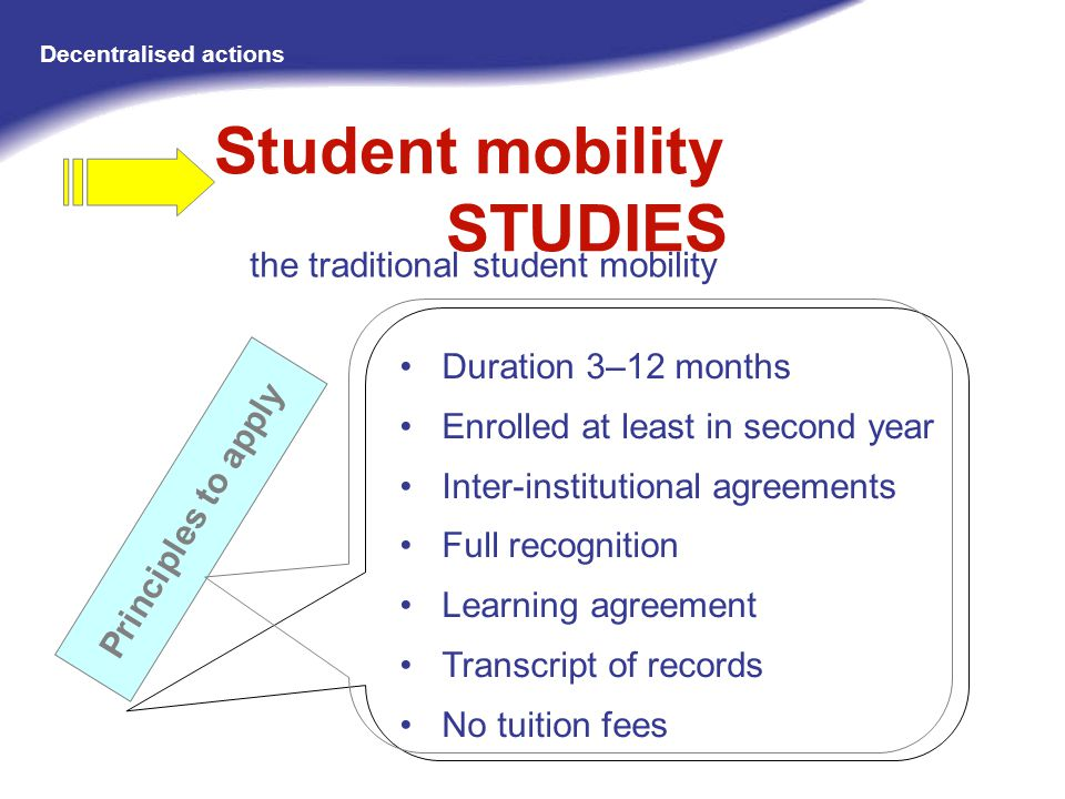 Student mobility STUDIES