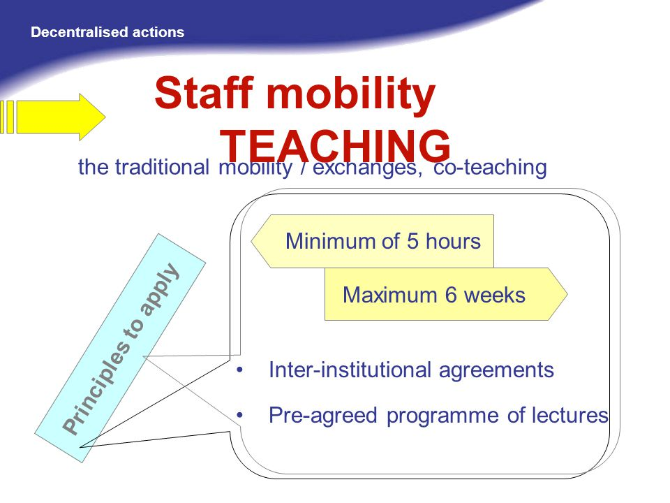 Staff mobility TEACHING