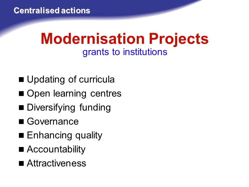 Modernisation Projects