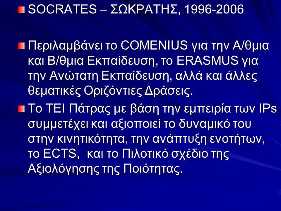 SOCRATES – ΣΩΚΡΑΤΗΣ, 1996-2006