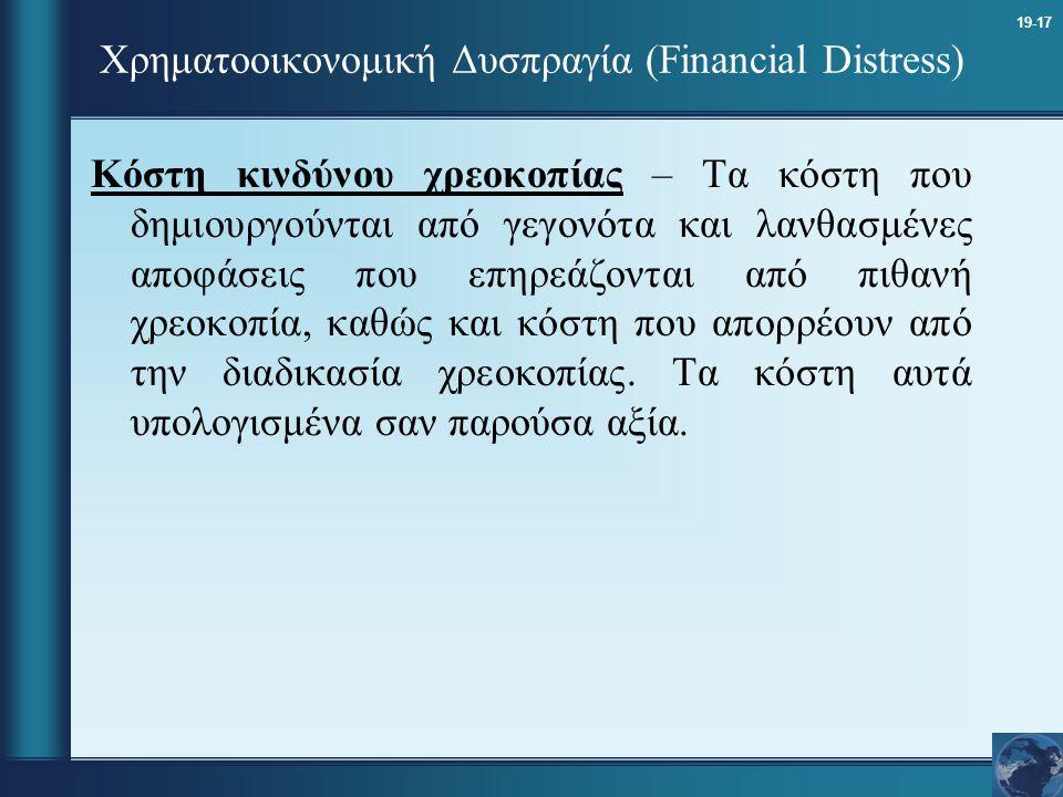 Χρηματοοικονομική Δυσπραγία (Financial Distress)