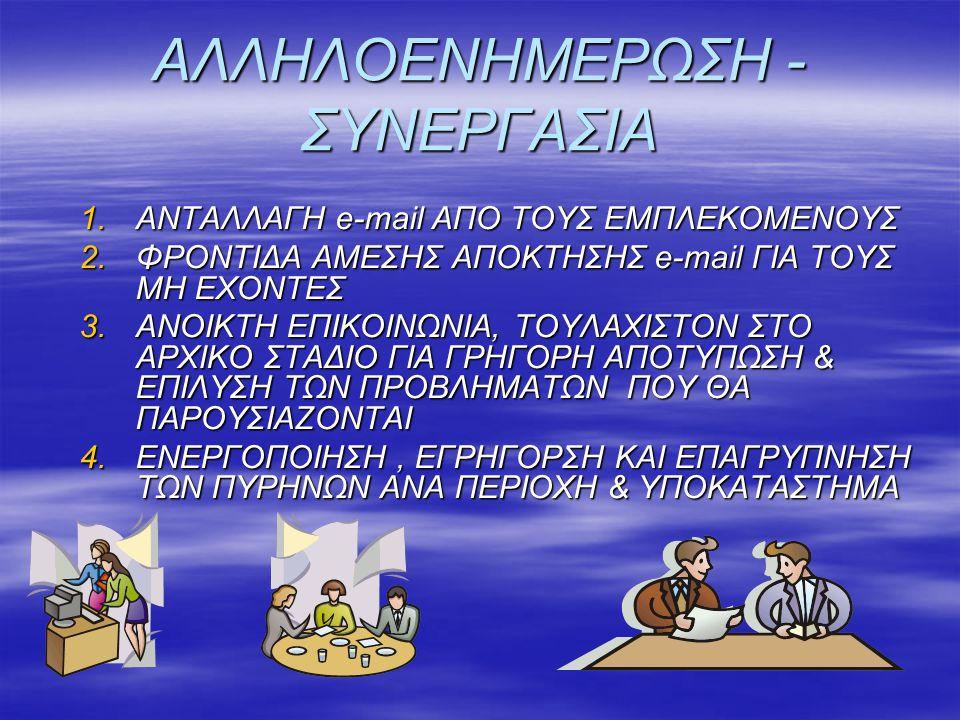 ΑΛΛΗΛΟΕΝΗΜΕΡΩΣΗ - ΣΥΝΕΡΓΑΣΙΑ
