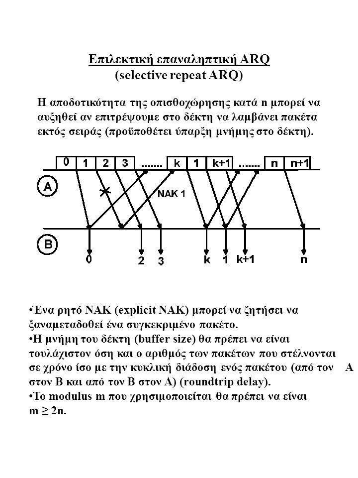 Επιλεκτική επαναληπτική ARQ (selective repeat ARQ)