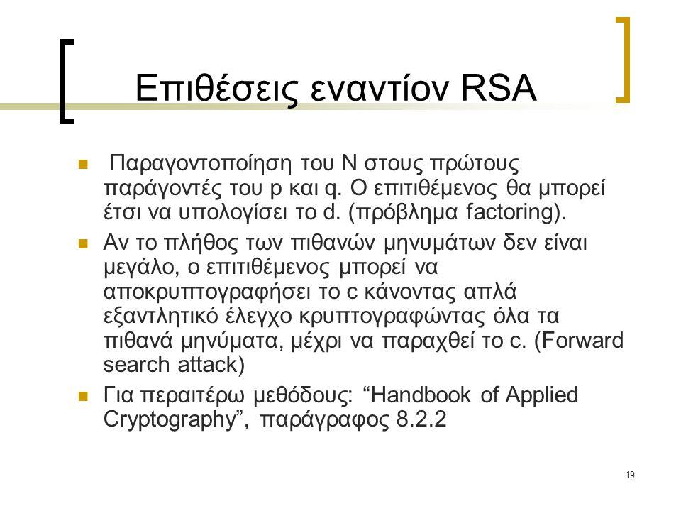 Επιθέσεις εναντίον RSA