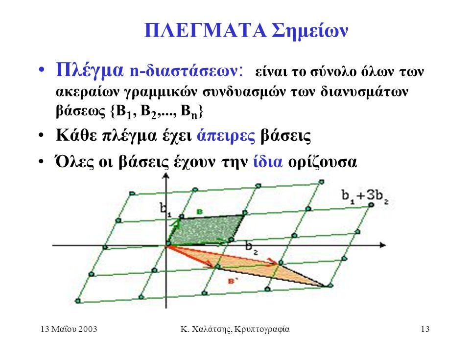 Κ. Χαλάτσης, Κρυπτογραφία