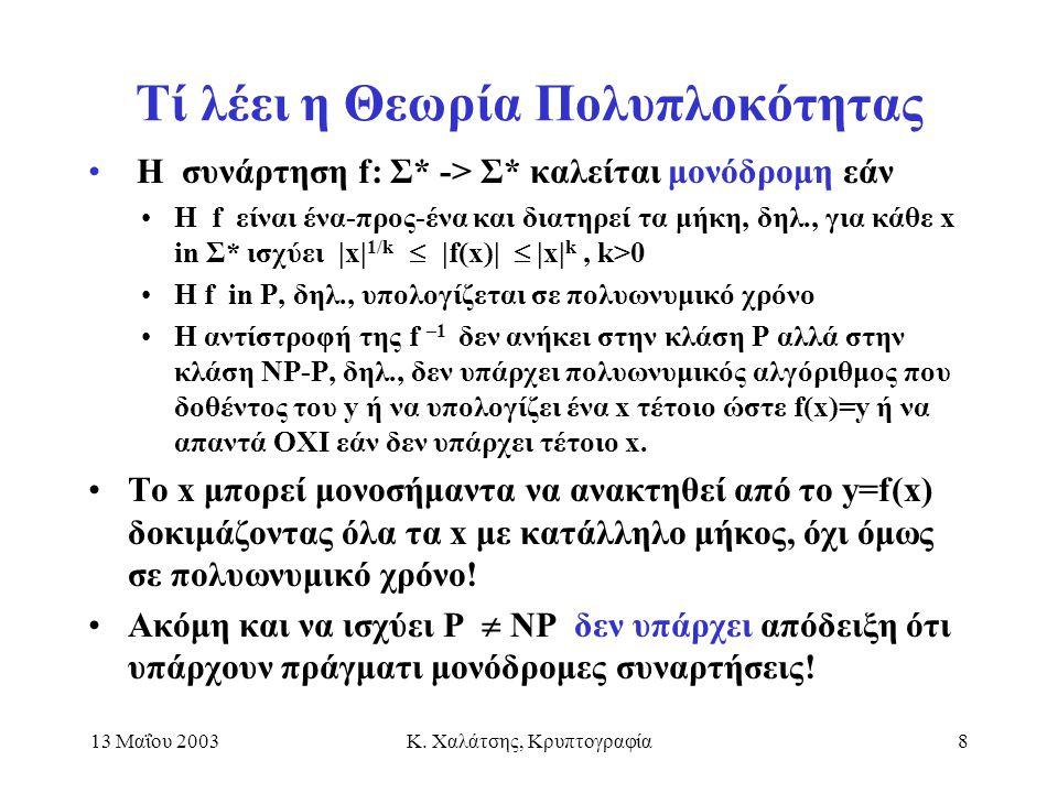 Τί λέει η Θεωρία Πολυπλοκότητας
