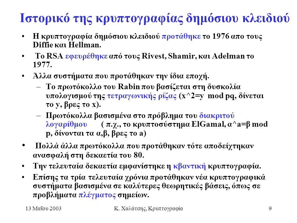 Ιστορικό της κρυπτογραφίας δημόσιου κλειδιού