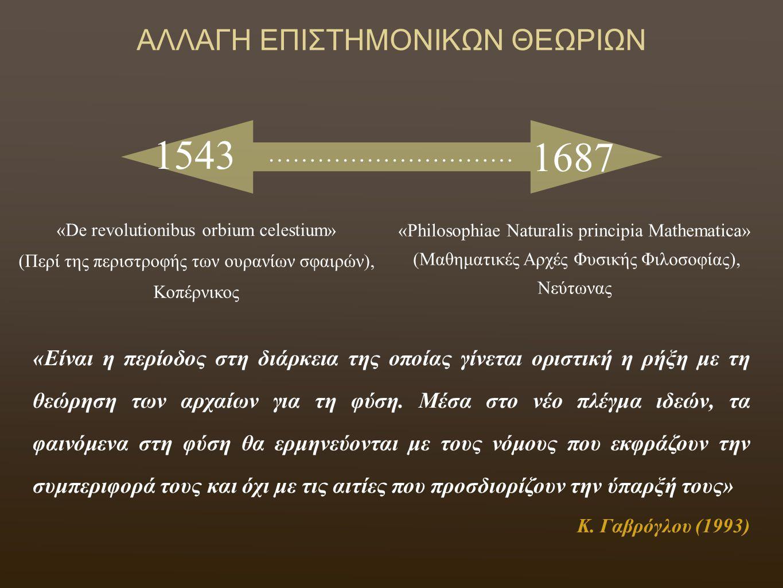 1543 1687 ΑΛΛΑΓΗ ΕΠΙΣΤΗΜΟΝΙΚΩΝ ΘΕΩΡΙΩΝ …………………………