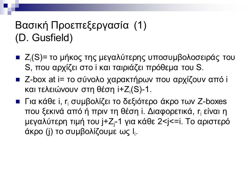 Βασική Προεπεξεργασία (1) (D. Gusfield)