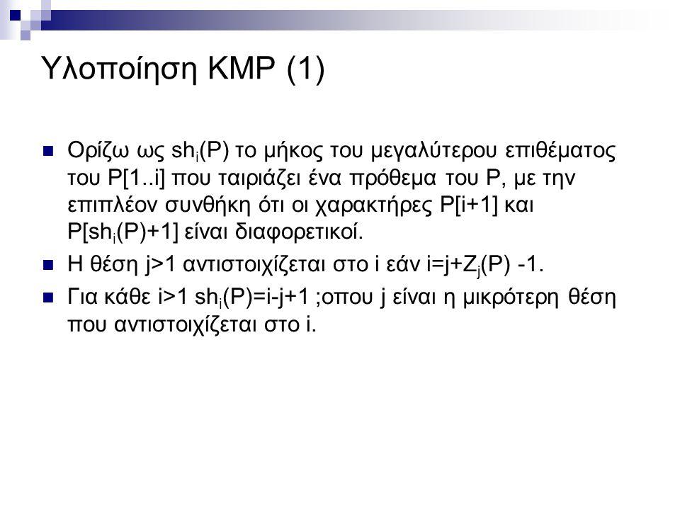 Υλοποίηση KMP (1)