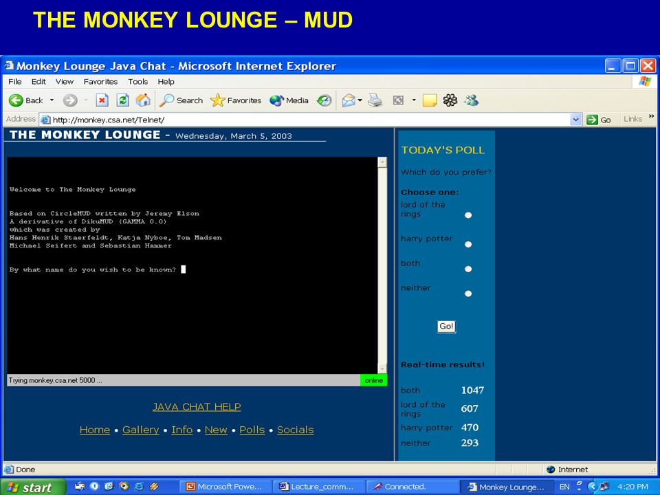 ΤHE MONKEY LOUNGE – MUD