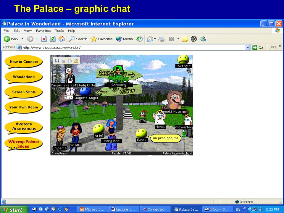 The Palace – graphic chat