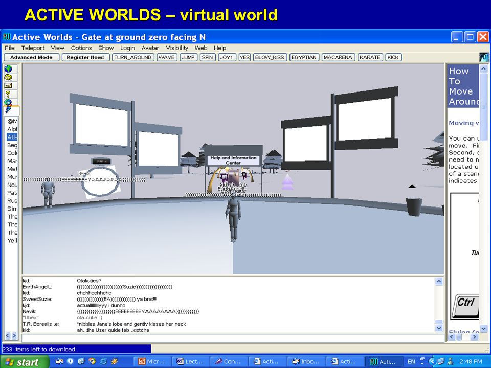 ACTIVE WORLDS – virtual world