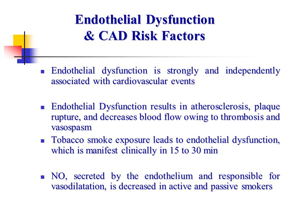 Endothelial Dysfunction & CAD Risk Factors