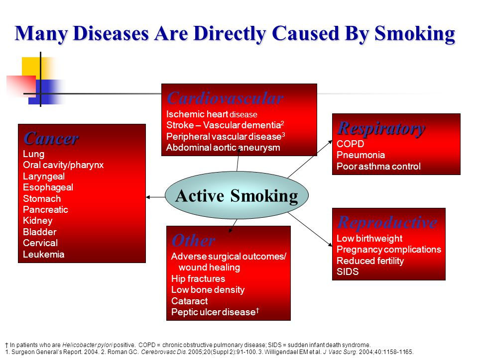 Many Diseases Are Directly Caused By Smoking
