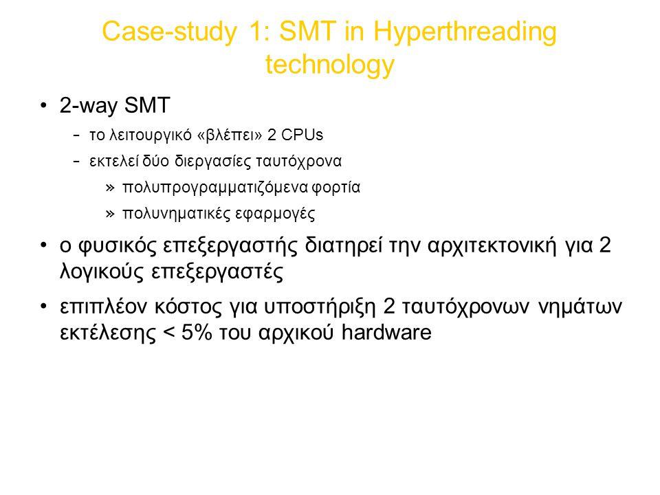 Case-study 1: SMT in Hyperthreading technology