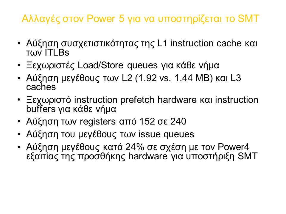 Αλλαγές στον Power 5 για να υποστηρίζεται το SMT