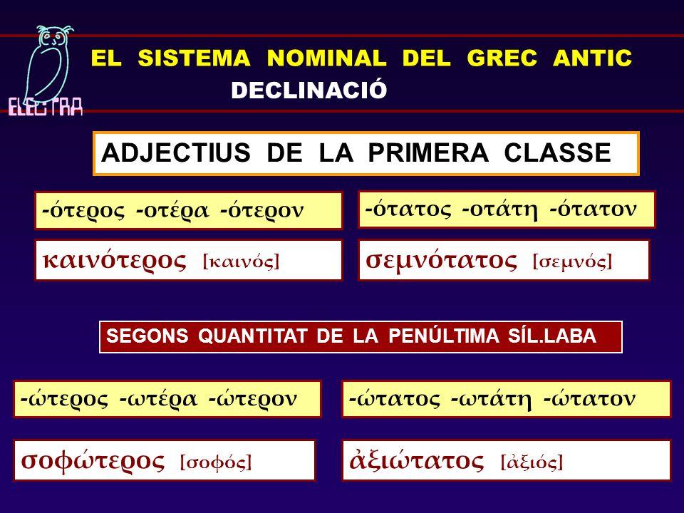 ADJECTIUS DE LA PRIMERA CLASSE