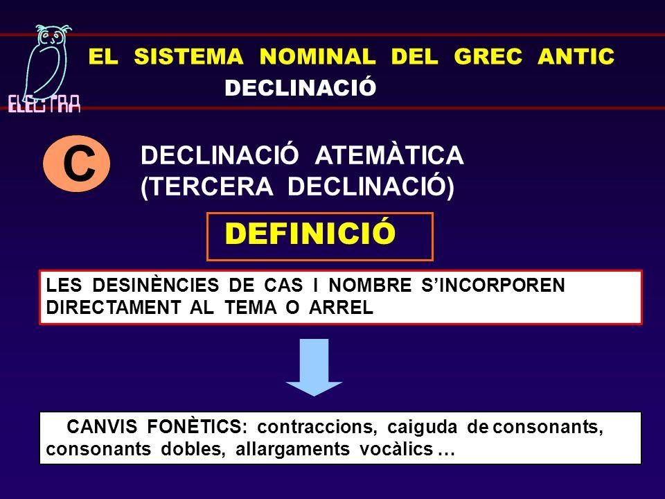 C DEFINICIÓ DECLINACIÓ ATEMÀTICA (TERCERA DECLINACIÓ)