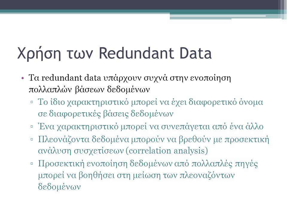Χρήση των Redundant Data