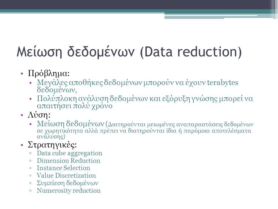 Μείωση δεδομένων (Data reduction)