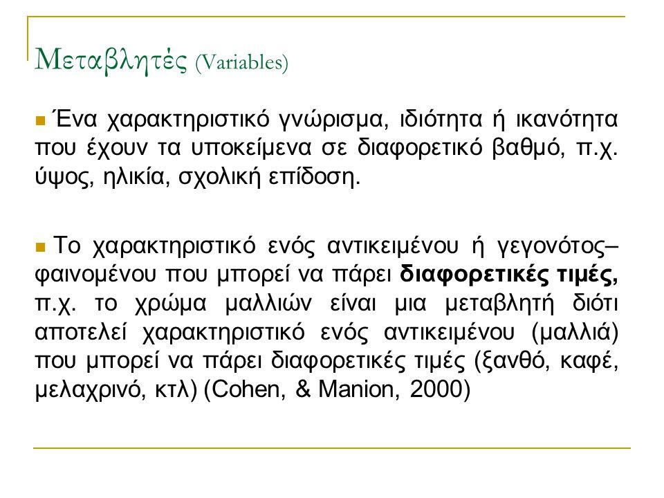 Μεταβλητές (Variables)