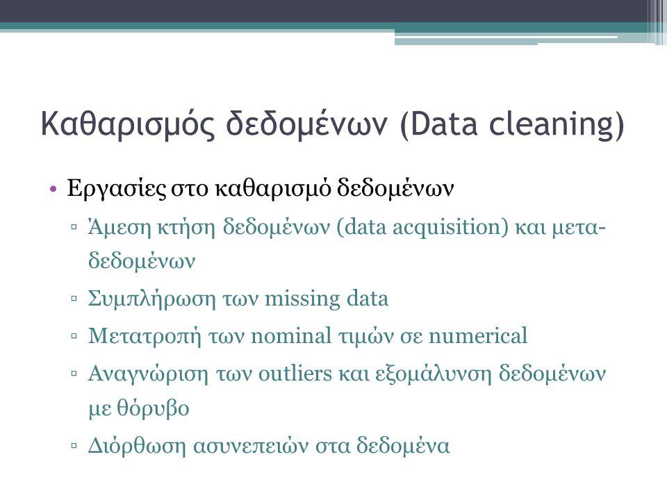 Καθαρισμός δεδομένων (Data cleaning)