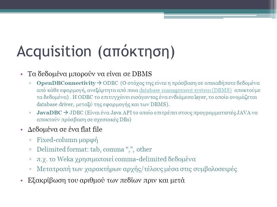 Acquisition (απόκτηση)