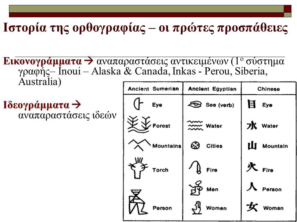Ιστορία της ορθογραφίας – οι πρώτες προσπάθειες