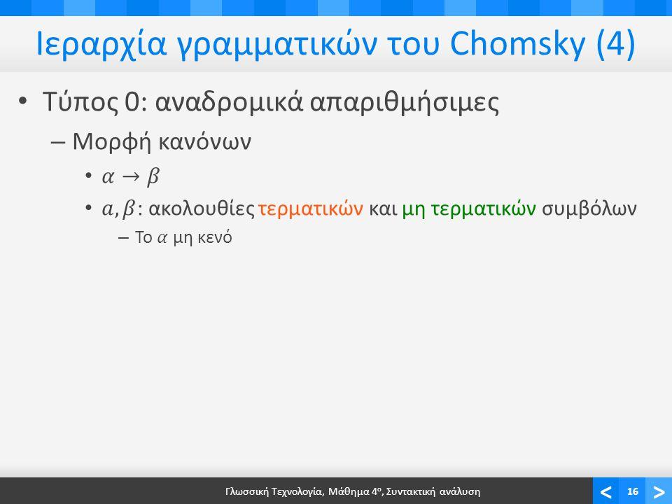 Παραγωγική ισχύς γραμματικών (1)