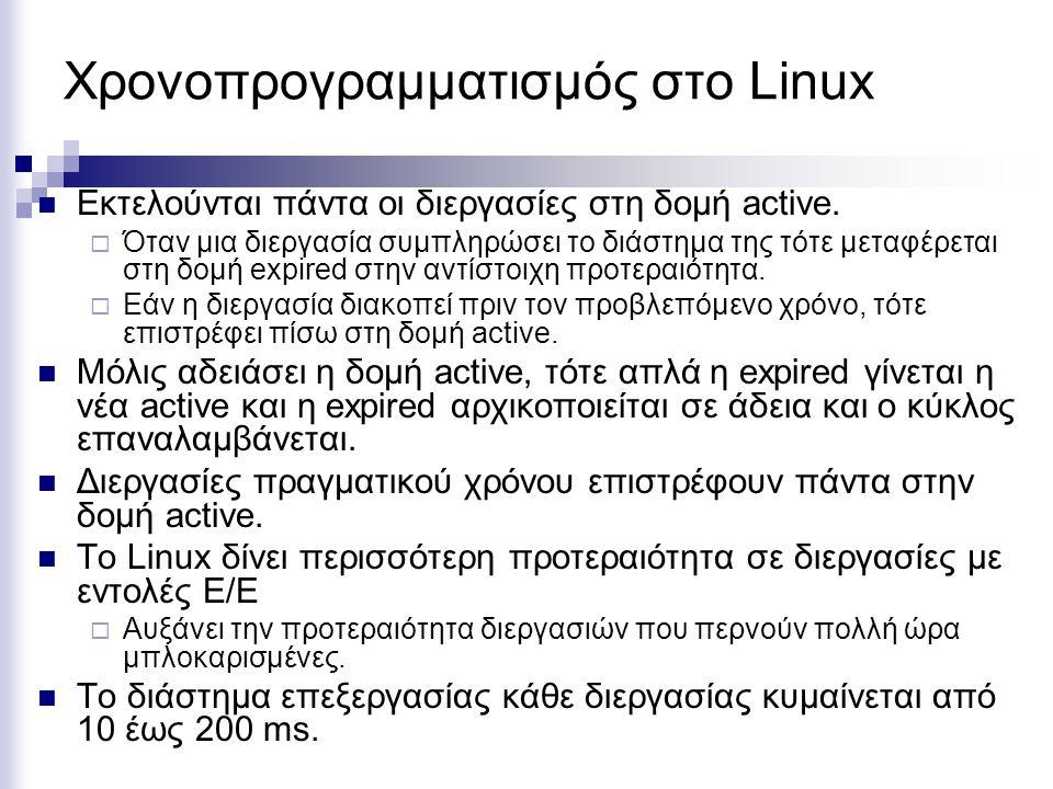 Χρονοπρογραμματισμός στο Linux