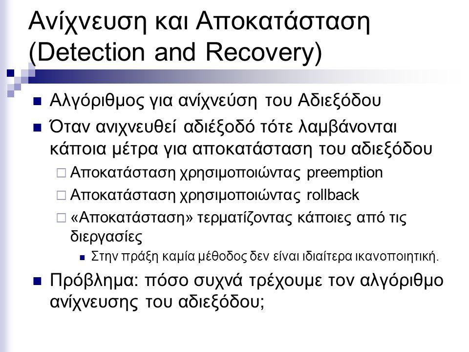 Ανίχνευση και Αποκατάσταση (Detection and Recovery)