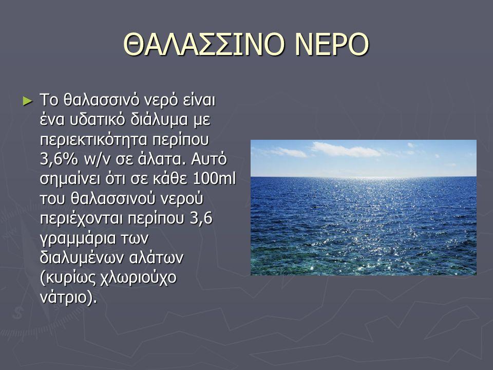 ΘΑΛΑΣΣΙΝΟ ΝΕΡΟ