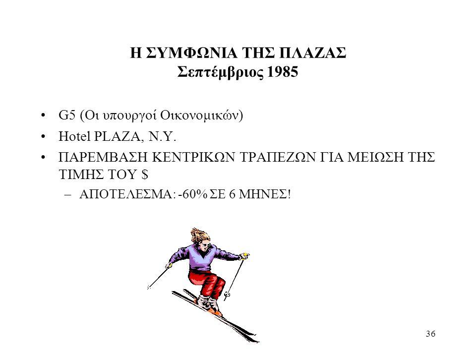 Η ΣΥΜΦΩΝΙΑ ΤΗΣ ΠΛΑΖΑΣ Σεπτέμβριος 1985