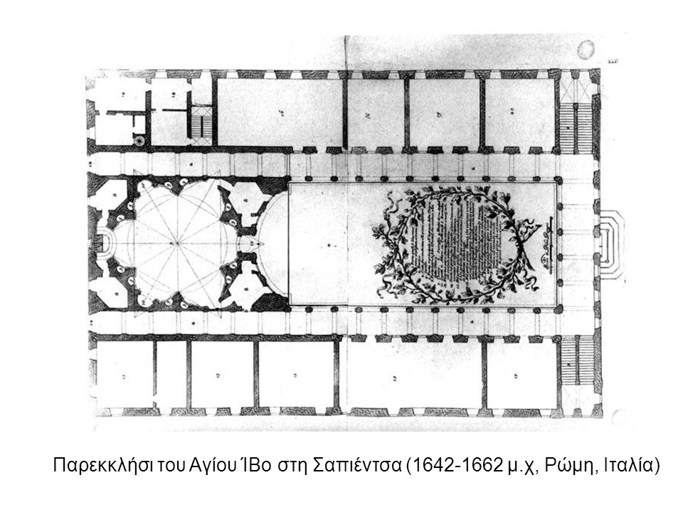 Παρεκκλήσι του Αγίου ΊΒο στη Σαπιέντσα (1642-1662 μ.χ, Ρώμη, Ιταλία)