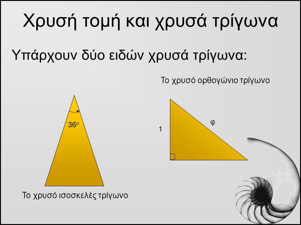 Χρυσή τομή και χρυσά τρίγωνα