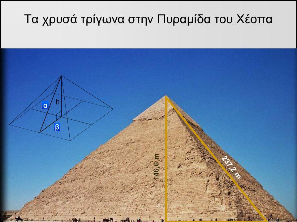 Τα χρυσά τρίγωνα στην Πυραμίδα του Χέοπα