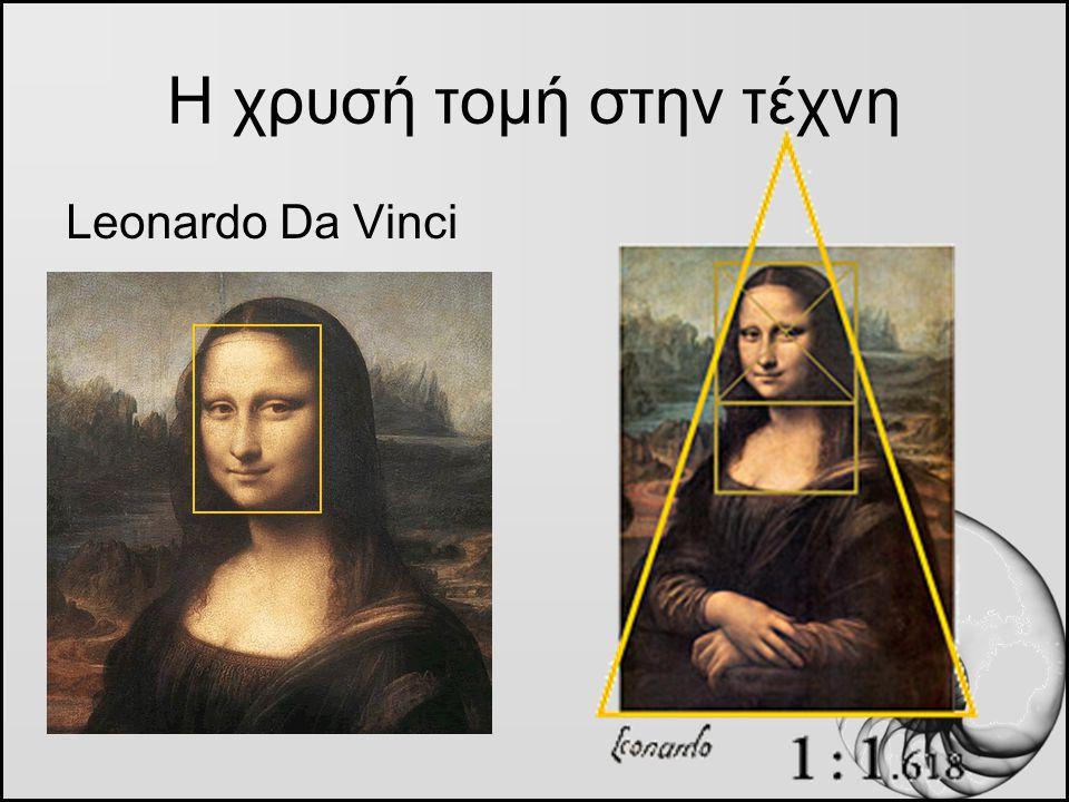 Η χρυσή τομή στην τέχνη Leonardo Da Vinci