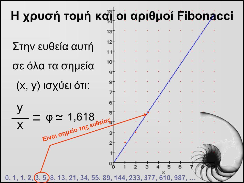 Η χρυσή τομή και οι αριθμοί Fibonacci