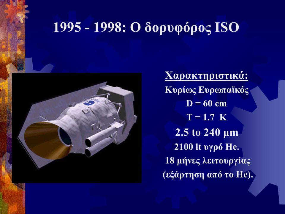 1995 - 1998: Ο δορυφόρος ISO Χαρακτηριστικά: 2.5 to 240 μm