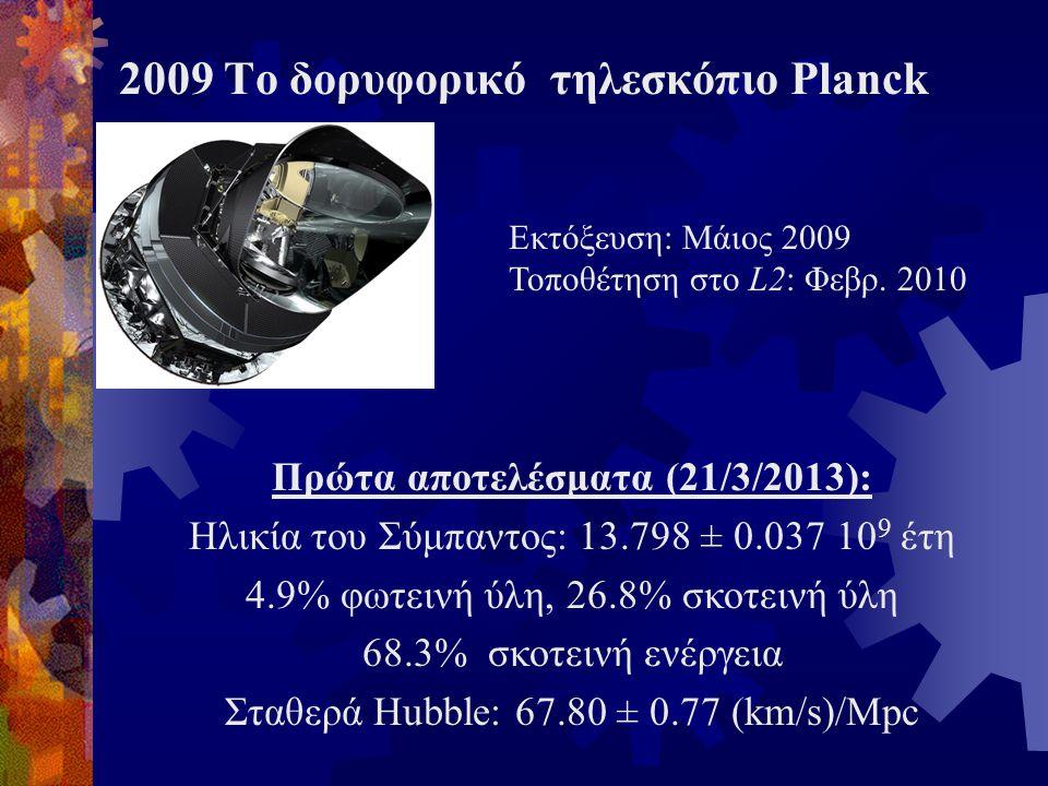2009 Το δορυφορικό τηλεσκόπιο Planck