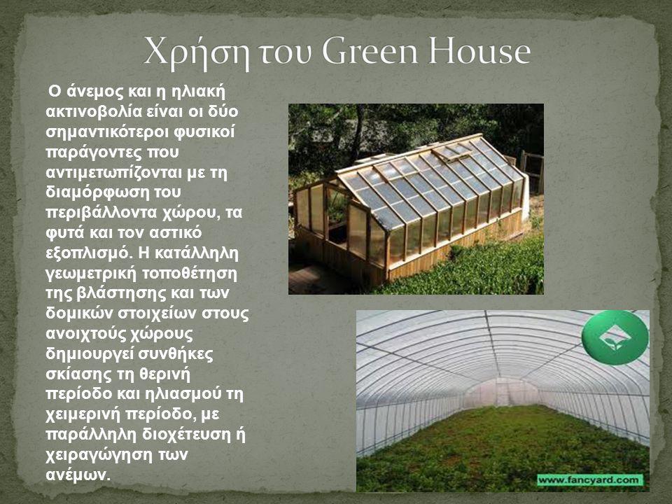 Χρήση του Green House