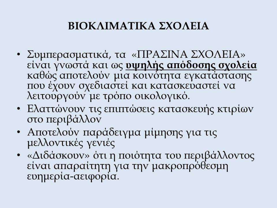 ΒΙΟΚΛΙΜΑΤΙΚΑ ΣΧΟΛΕΙΑ
