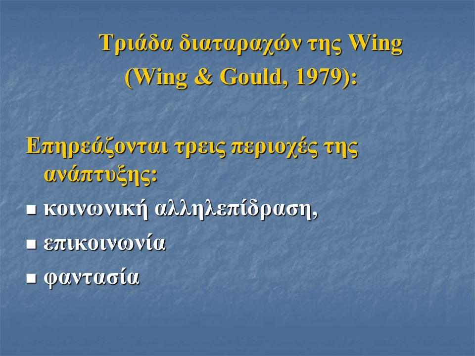 Τριάδα διαταραχών της Wing