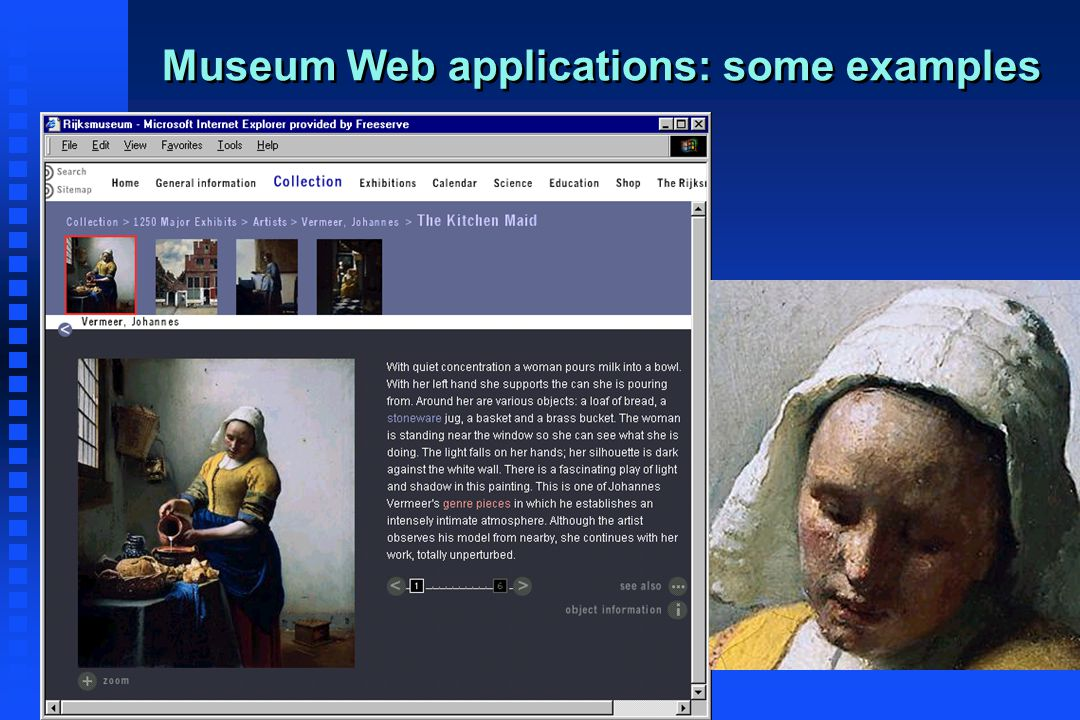 Museum Web applications: some examples