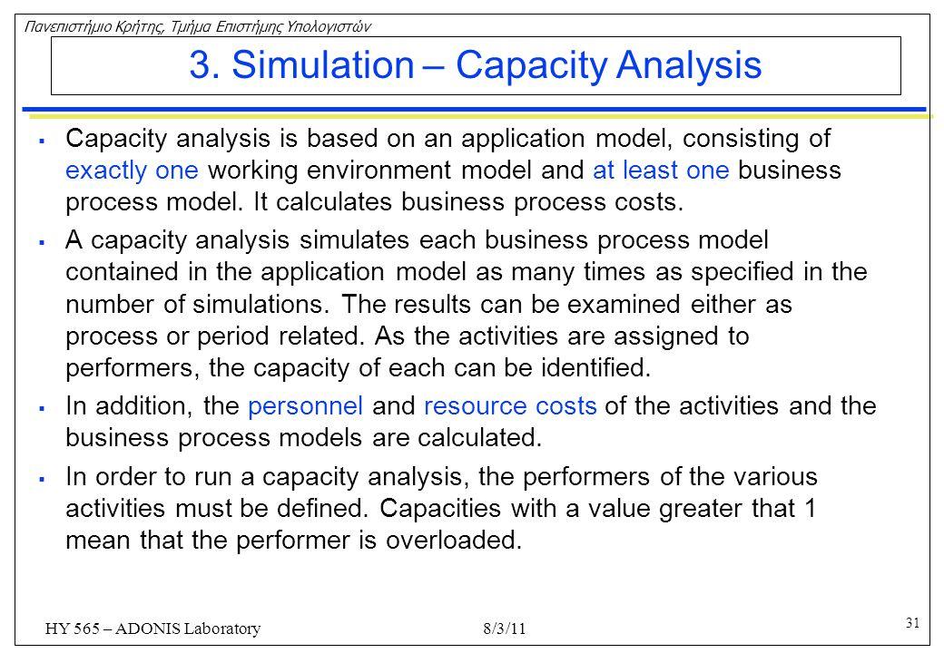 3. Simulation – Capacity Analysis