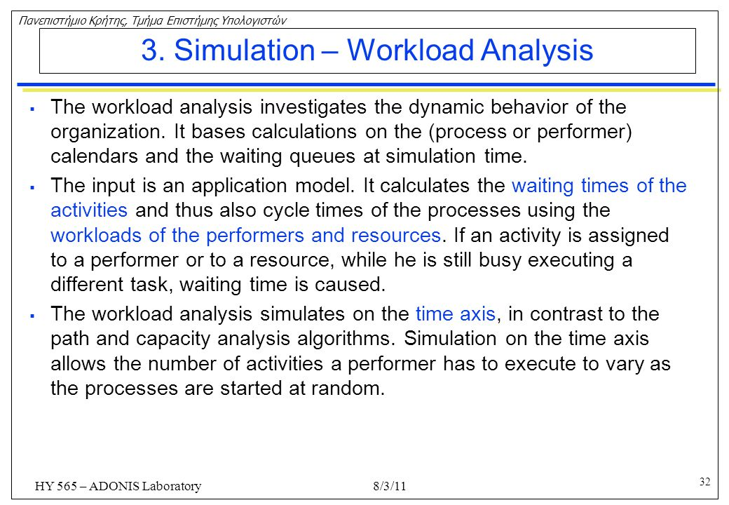 3. Simulation – Workload Analysis
