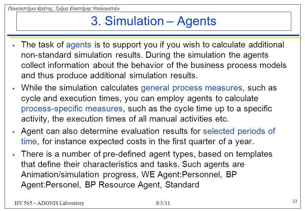 3. Simulation – Agents